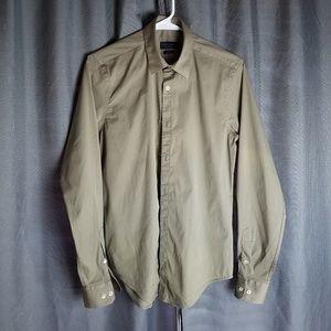Zara man shirt slim fit size M tan cotton 100%